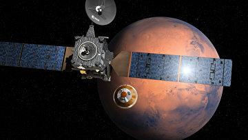 """Посадочный модуль """"Скиапарелли"""" отделился от основного орбитального блока """"Трейс Гас Орбитер"""""""