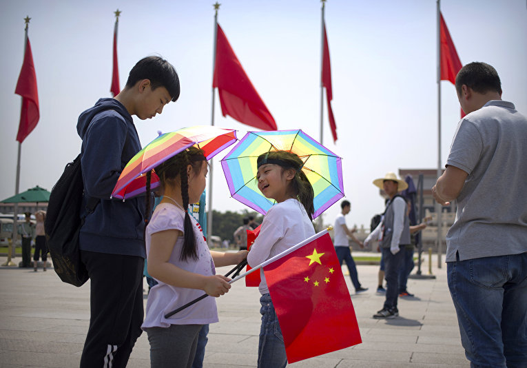 На площади Тяньаньмэнь в Пекине