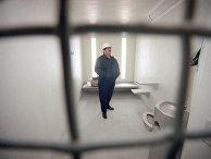 Одиночная камера в исправительном учереждении CCA в Южной Калифорнии
