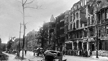 Улица Потсдамер в Берлине, 1945 год