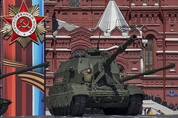 Военная техника на репетиции Парада Победы