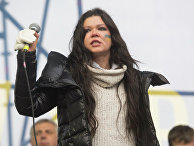 Певица Руслана на митинге сторонников евроинтеграции Украины