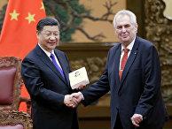 Председатель КНР Си Цзиньпин и президент Чехии Милош Земан