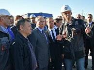 Президент РФ Владимир Путин и председатель правительства РФ Дмитрий Медведев и Аркадий Ротенберг