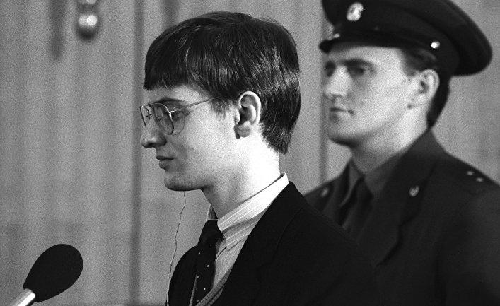 Суд над западногерманским пилотом Матиасом Рустом