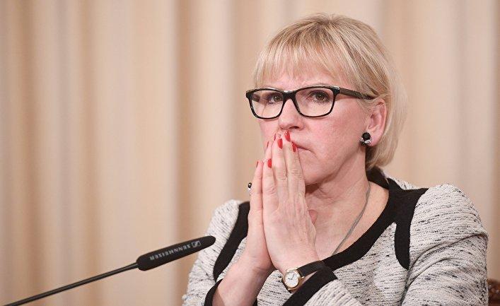 Министр иностранных дел Королевства Швеции Маргот Вальстрем после встречи с Сергеем Лавровым