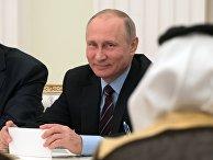 Встреча президента РФ Владимира Путина и заместителья наследного принца Саудовской Аравии Мухаммада ибн Салман Аль Сауда. 30 мая 2017