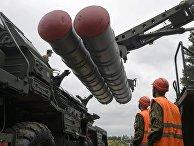 Перезарядка зенитного ракетного комплекса С-400 «Триумф»
