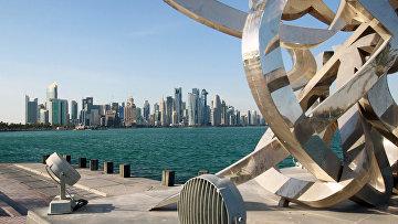 Вид с набережной на район Вест-Бэй города Доха
