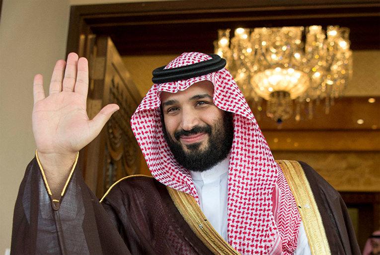 Заместитель наследного принца Саудовской Аравии Мухаммед бин Салман в в Эр-Рияде, Саудовская Аравия