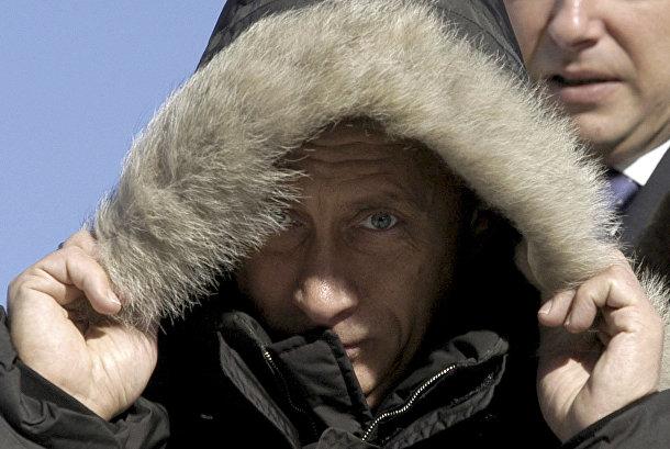 Президент Российской Федерации Владимир Путин в селе Овсянка
