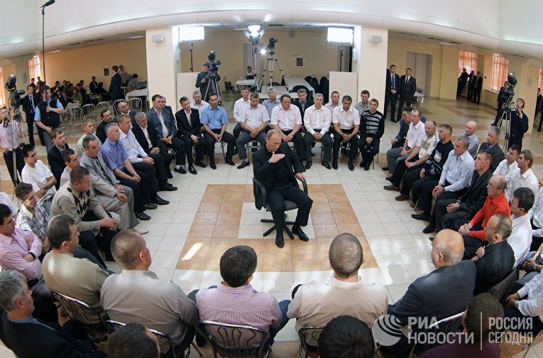 Премьер-министр РФ Владимир Путин побеседовал с шахтерами