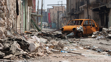 Разрушенные здания в Мосуле. Март 2017 года