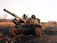 Уничтоженная украинская военная техника на Донбассе