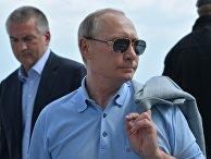 Президент РФ Владимир Путин во время посещения международного детского центра «Артек» в Крыму