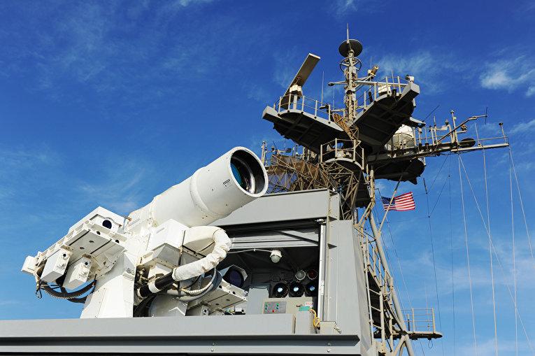 Боевая лазерная система на борту корабля «Понс»