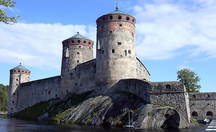 Крепость Олавинлинна в Финляндии