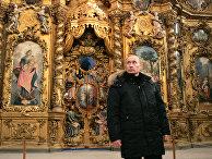 Владимир Путин в Троице-Гледенском монастыре