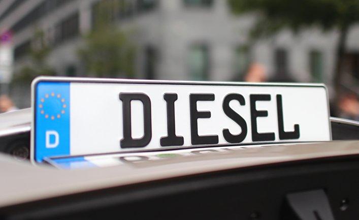 Акция протекта против «дизельгейт» в Берлине