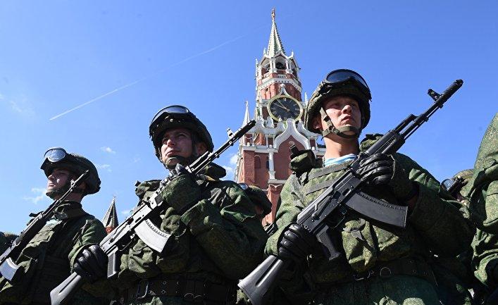 Празднование Дня ВДВ на Красной площади