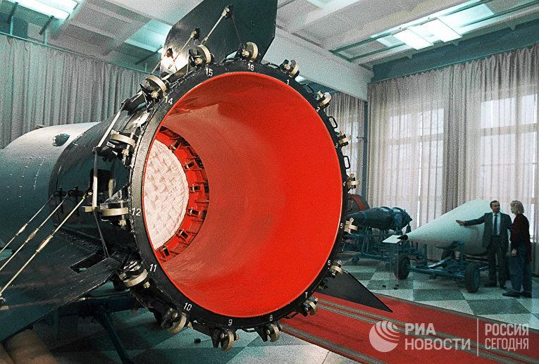 Парашютный отсек термоядерной бомбы 100 МГТ, испытания которой проводились на полигоне Новая Земля