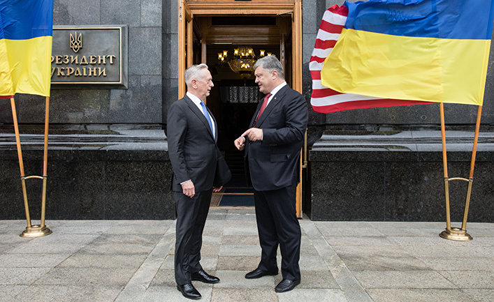 Визит министра обороны США Джеймса Мэттиса на Украину
