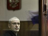 Экс-глава ЮКОСа Михаил Ходорковский на заседании Хамовнического суда города Москвы