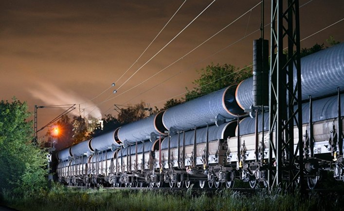 Транспортировка труб для «Северного потока – 2»
