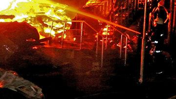 """На месте пожара в детском спортивно-оздоровительном лагере """"Виктория"""" в Одессе, Украина. 16 сентября 2017"""