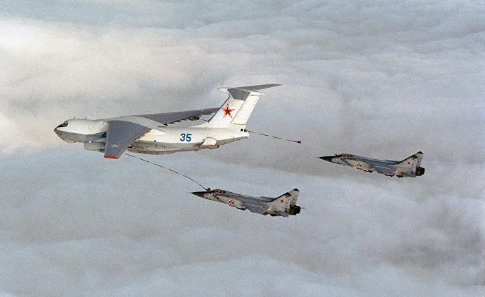 Ил-76 и Миг-31 в небе над Норвегией