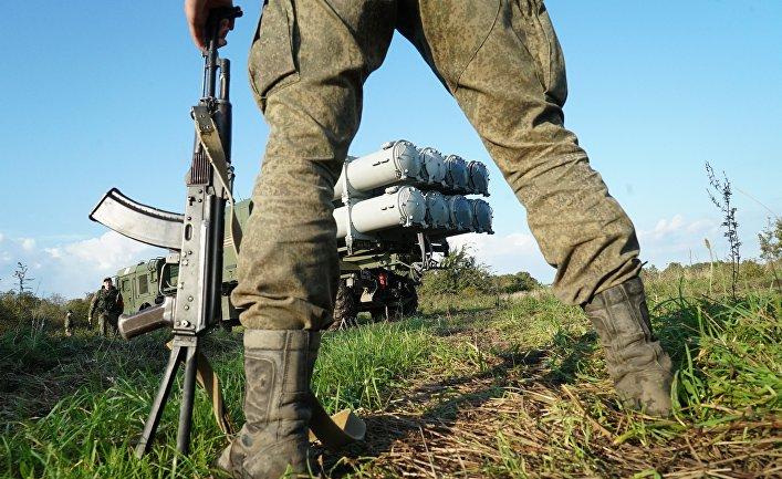 """Пуск противокорабельной ракеты БРК """"Бал"""" в рамках учений """"Запад-2017"""""""
