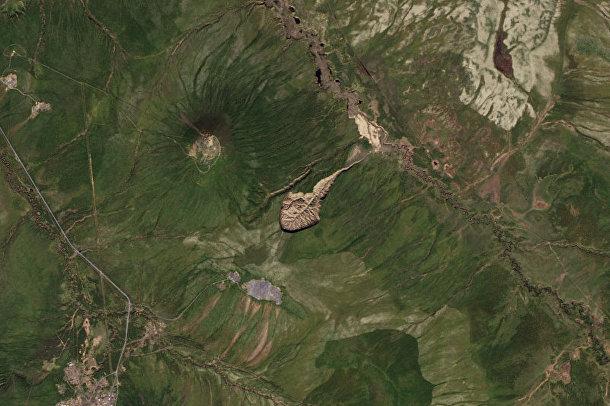 Кратер Батагайка в Сибири