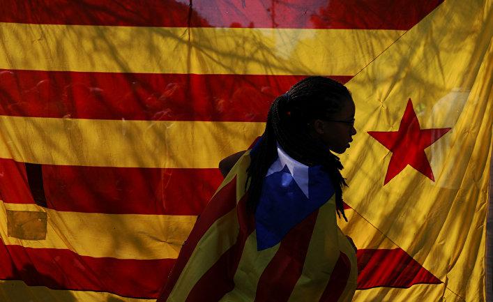 Акция протеста в поддержку референдума о независимости Каталонии