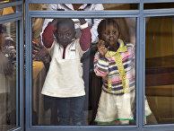 Кенийские дети в торговом центре Westgate в столице Найроби