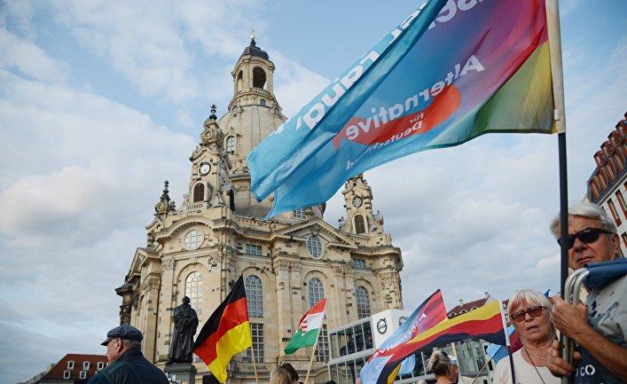 """Акция партии """"Альтернатива для Германии"""" против политики Ангелы Меркель в Дрездене"""