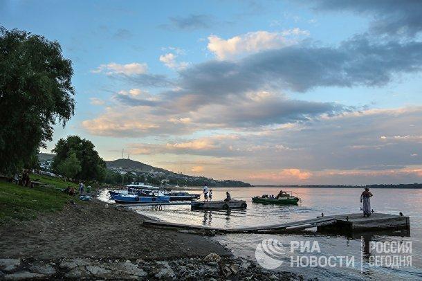 На берегу реки Волги в Саратовской области