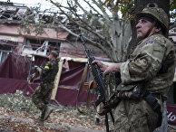 2014 год. Украинские солдаты из батальона «Донбасс» в деревне Марьинка возле Донецка.