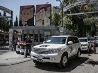 Инспекторы ООН по химоружию в военном госпитале в Дамаске. 2013 год