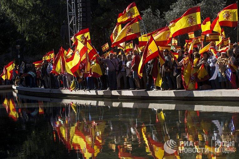 Акция в Мадриде в поддержку единства Испании