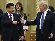 Президент США Дональд Трамп и председатель КНР Си Цзиньпин в Пекине
