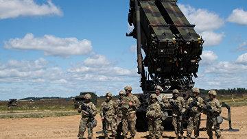 Американский ракетный комплекс Patriot во время учений НАТО в Литве