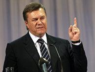 """Лидер """"Партии регионов"""" Виктор Янукович на конференции Донецкой областной организации"""