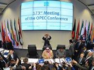 Участники 173-го заседания ОПЕК и третьей встречи со странами, не входящими в ОПЕК. 30 ноября 2017
