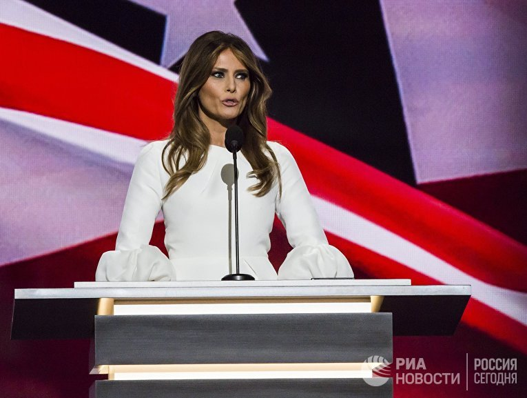 Супруга кандидата в президенты США Дональда Трампа Меланья