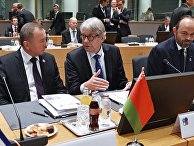 Министр иностранных дел Белоруссии Владимир Макей  на 5-м Саммите Восточного партнерства в Брюсселе. 24 ноября 2017