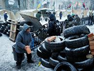 Палаточный лагерь у здания Верховной Рады в Киеве