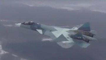Первый полет Су-57 с новым двигателем