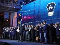 Президент РФ Владимир Путин во время встречи с работниками Горьковского автомобильного завода в Нижнем Новгороде. 6 декабря 2017