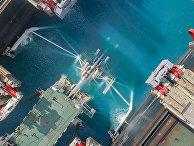 Укладка труб газопровода «Турецкий поток»