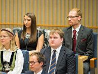 Шведский политик Павел Гамов (справа)